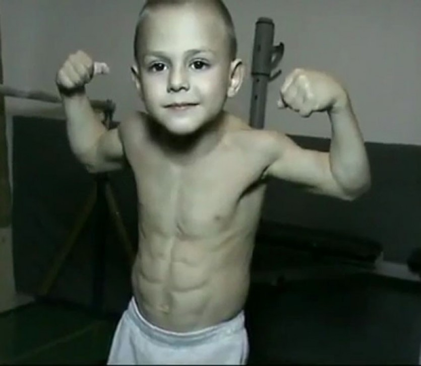 5 yr old body builder