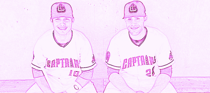 Smiling Minor Leaguers